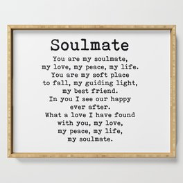 You Are My Soulmate Romantic Quote Serving Tray