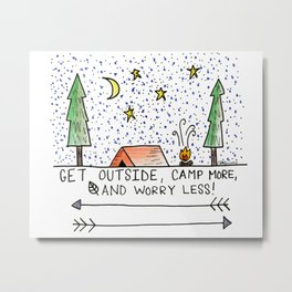 Go Camp Metal Print
