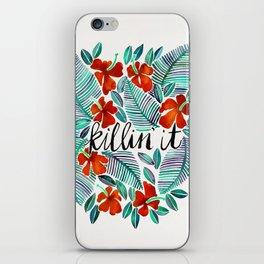 Killin' It – Tropical Red & Green iPhone Skin