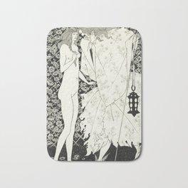Aubrey Beardsley - The Mysterious Rose Garden Bath Mat