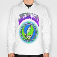 grateful dead Hoodies featuring Grateful Dead #9 Optical Illusion Psychedelic Design by CAP Artwork & Design