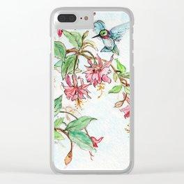 Honeysuckle Hummingbird Clear iPhone Case