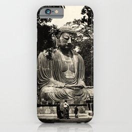 retro classic Great Buddha Japan poster iPhone Case