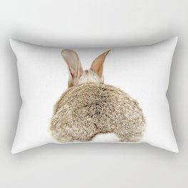 Bunny Tail Print by Zouzounio Art Rectangular Pillow