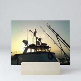Fishing At Dawn Mini Art Print