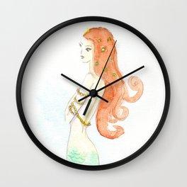 Mermaid Dreaming Wall Clock
