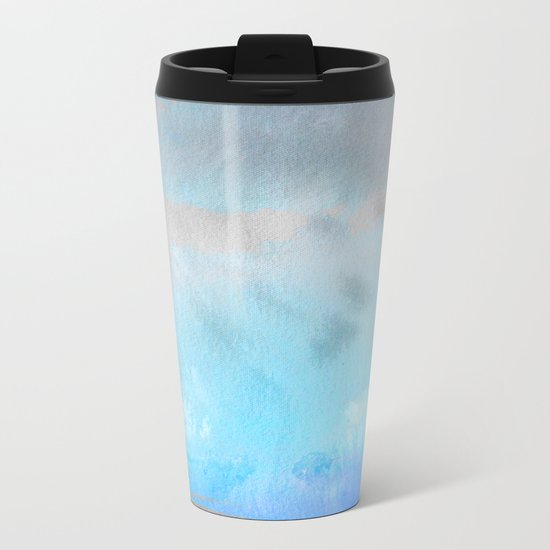 Ocean #Abstract Metal Travel Mug