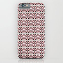 Seamless pattern design inspired by Romanian traditional embroidery iPhone Case