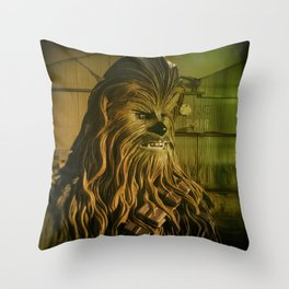 Bear Looking For Food Throw Pillow