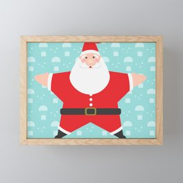 Santa Claus Starmas Framed Mini Art Print