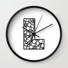 Letter L Wall Clock