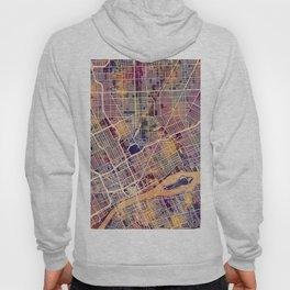 Detroit Michigan City Map Hoody