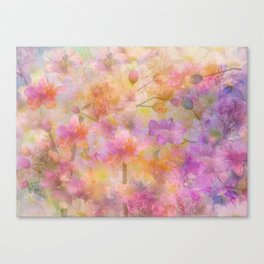 Sophisticated Painterly Floral Abstract Canvas Print