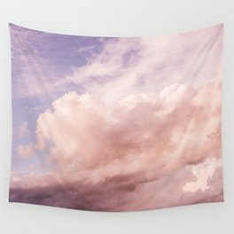 Perfect Pink Summer Sky Nature Photography Wall Tapestry