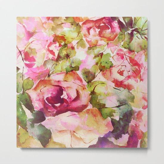 roses abstraites Metal Print