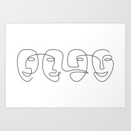 The Carnival Of Four Art Print