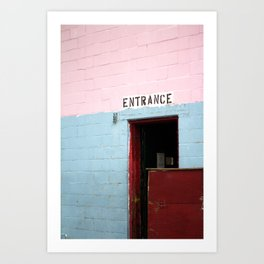 Enter Here Art Print