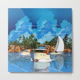 Muskoka Boating Metal Print