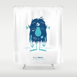 T is for Troll Shower Curtain