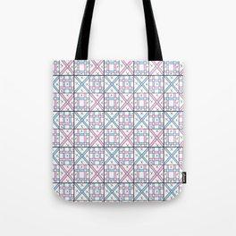 symetric tartan and gingham 26 -vichy, gingham,strip,square,geometric, sober,tartan Tote Bag