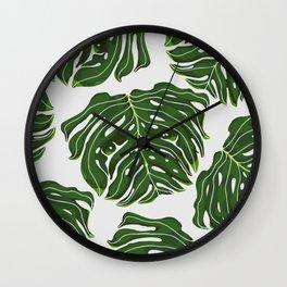Monstera Pug Wall Clock