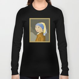 Girl with pearl by Vermeer  Long Sleeve T-shirt
