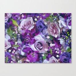 Romantic flowers III Canvas Print