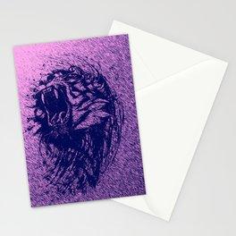 Tiger Purple Stationery Cards