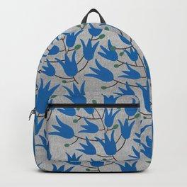 Blue Bell – Scandinavian folk art - Blue Bell Floral Backpack