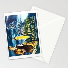 House on Haunted Hill, vintage horror movie poster Stationery Cards