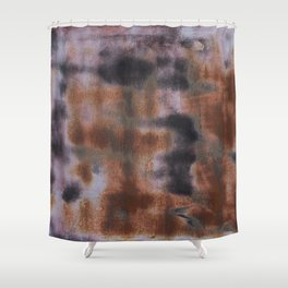 Copper and Iron abstract pattern Shower Curtain