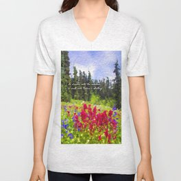 To Wander Into the Meadow Unisex V-Neck