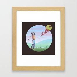 Zombie golf Framed Art Print