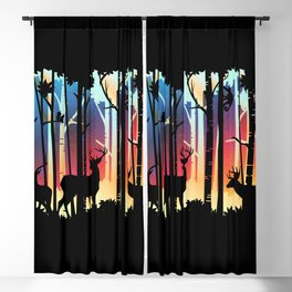 Silhouette Deep Forest & Animals 04 Blackout Curtain