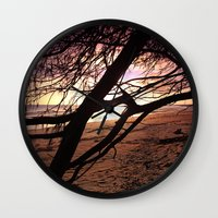 bebop Wall Clocks featuring Early morning beach walks are filled with treasures by Donuts