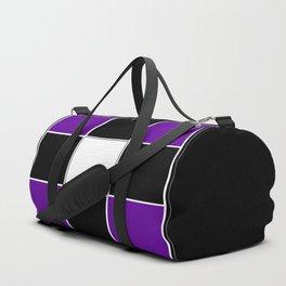 Team Colors 3 ...purple, black and white Duffle Bag
