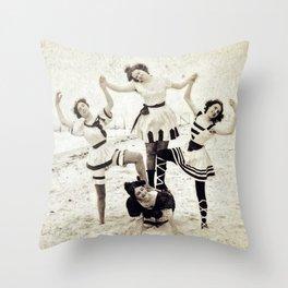 Coney Island 1900 Throw Pillow