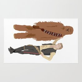 Han Solo and Chewbacca Rug