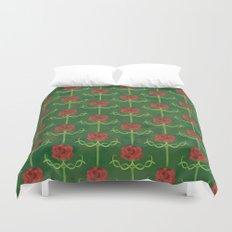 Spring Roses Pattern Duvet Cover