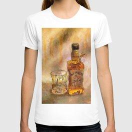 Whiskey Paintings Shots Drinks Bar Art T-shirt