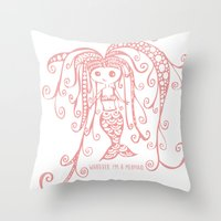 whatever Throw Pillows featuring Whatever. by I'm Knot Tangled