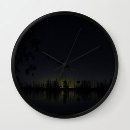 Lakeside Night (blue) Wall Clock