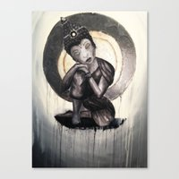 buddah Canvas Prints featuring Calm Buddah by Evermore Artistry
