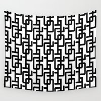 mid century modern Wall Tapestries featuring Mid Century Pattern by Scott Aichner