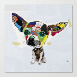 Chihuahua Colorful Dog POP Art Collage Canvas Print