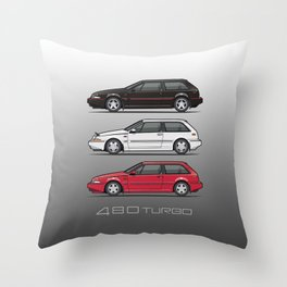 Stack of Volvo 480 Turbos Throw Pillow