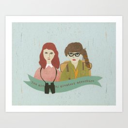 Suzy and Sam Together Art Print