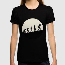 Photographers Evolution Moon T-shirt