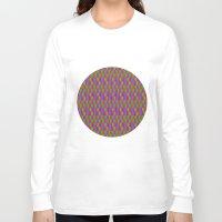 quilt Long Sleeve T-shirts featuring Caterpillar Quilt by Peter Gross