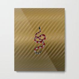 Gold Carbon snake Metal Print